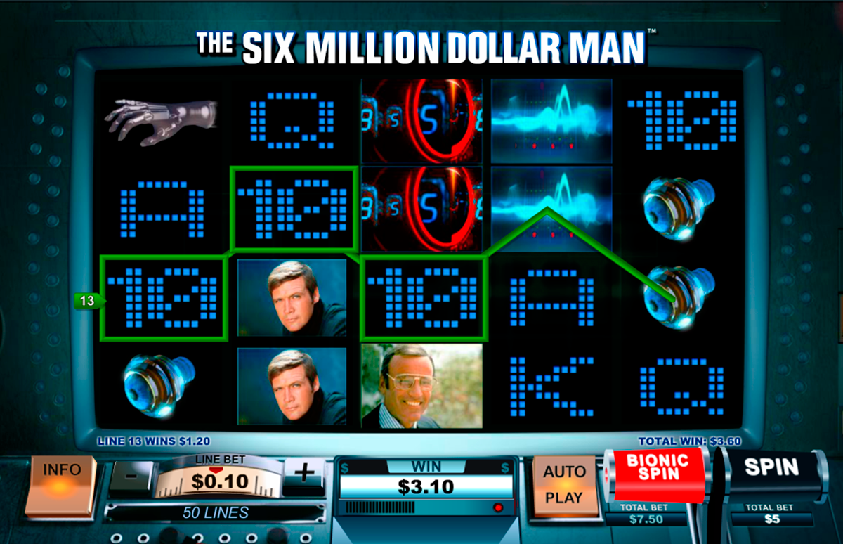 the six million dollar man playtech online slots