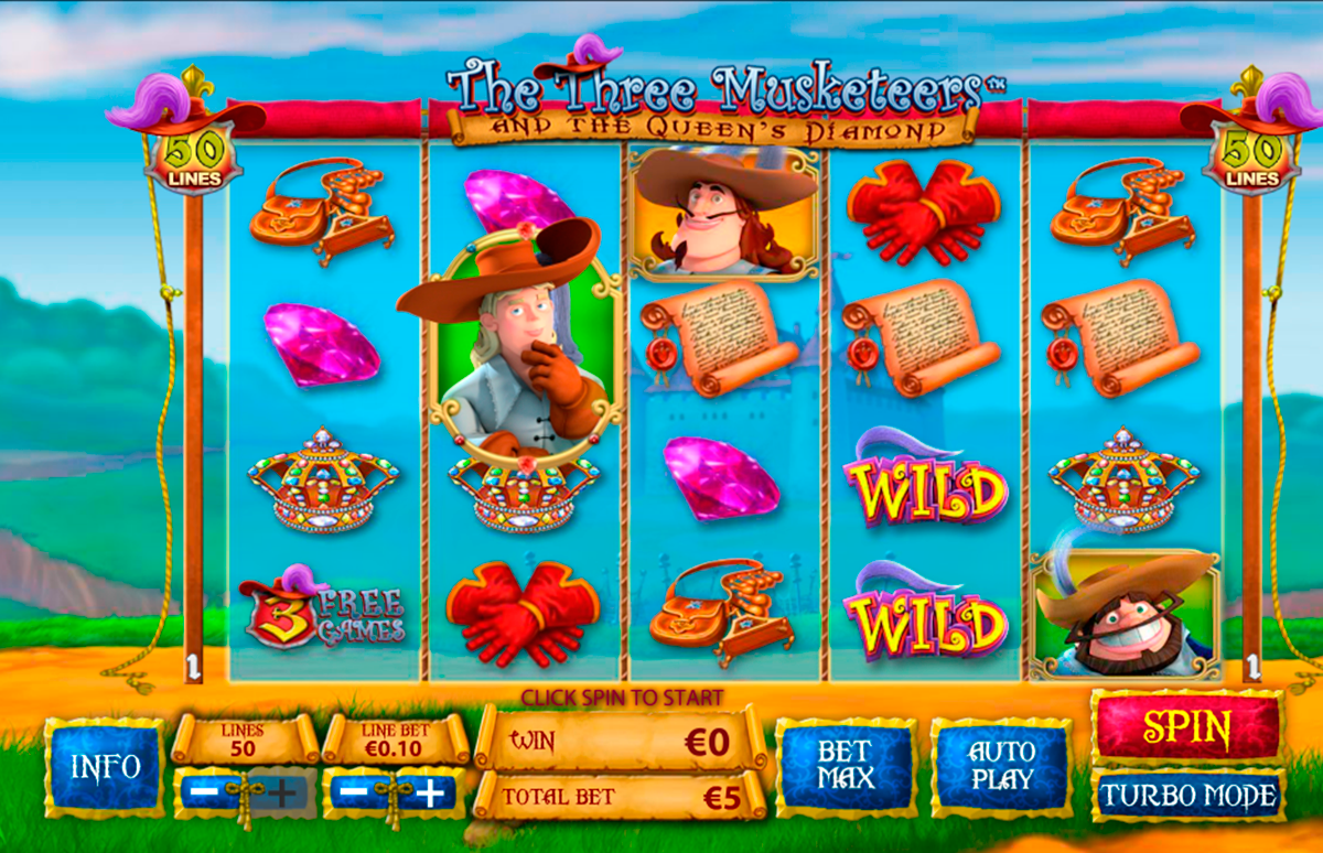 the three musketeers playtech online slots