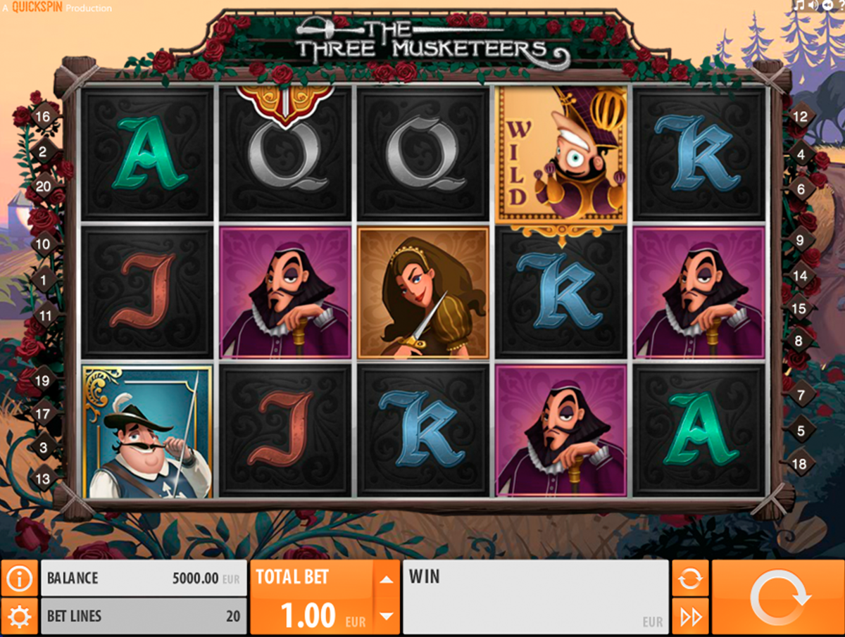 the three musketeers quickspin online slots