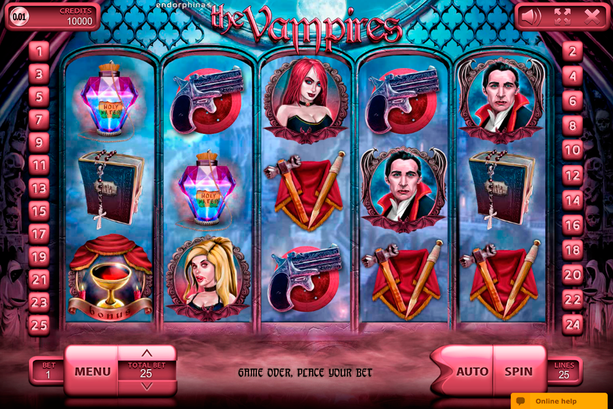 the vampires endorphina online slots