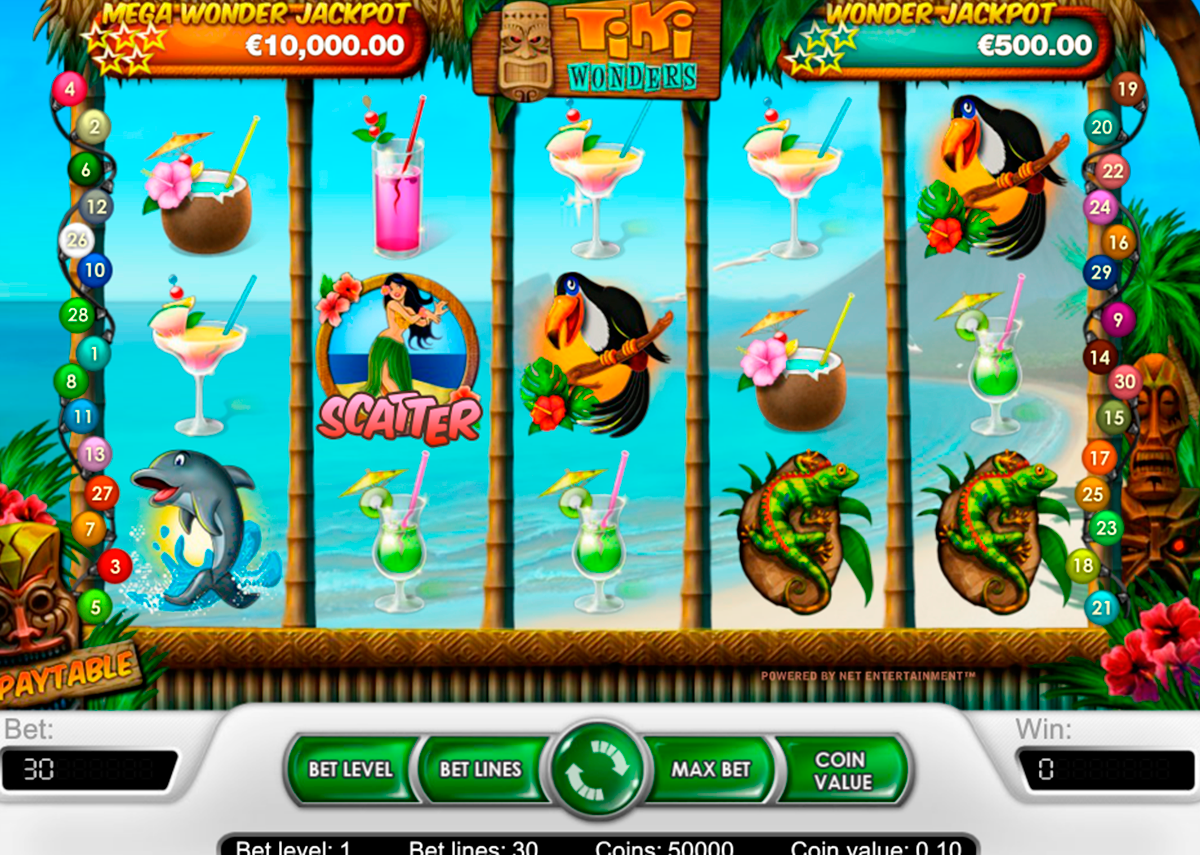 Tiki Wonders™ Slot Machine Game to Play Free in NetEnts Online Casinos