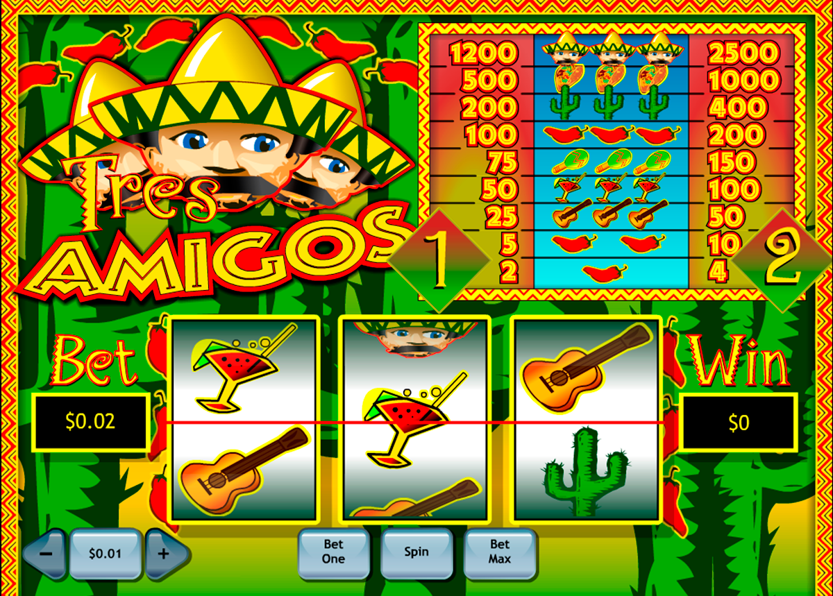 tres amigos playtech online slots