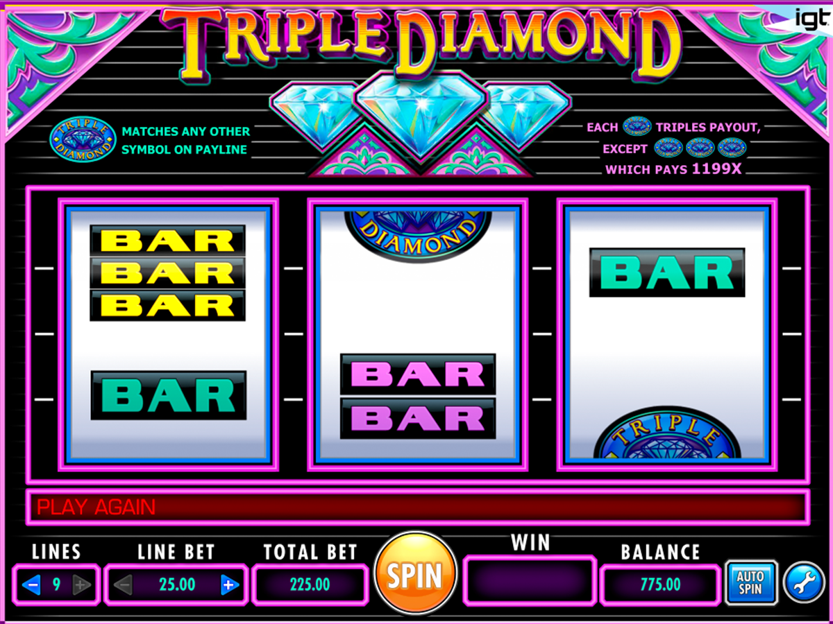 triple diamond igt online slots