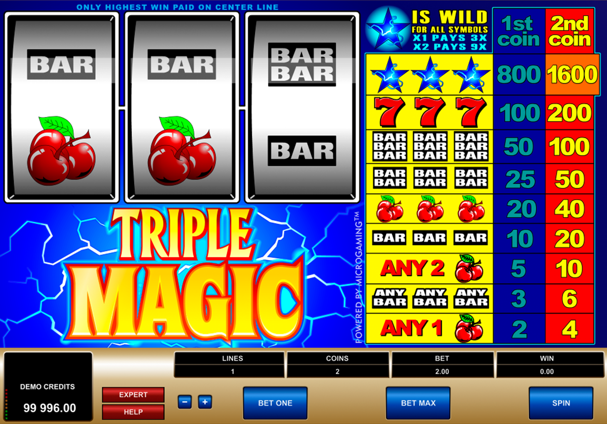 triple magic microgaming online slots