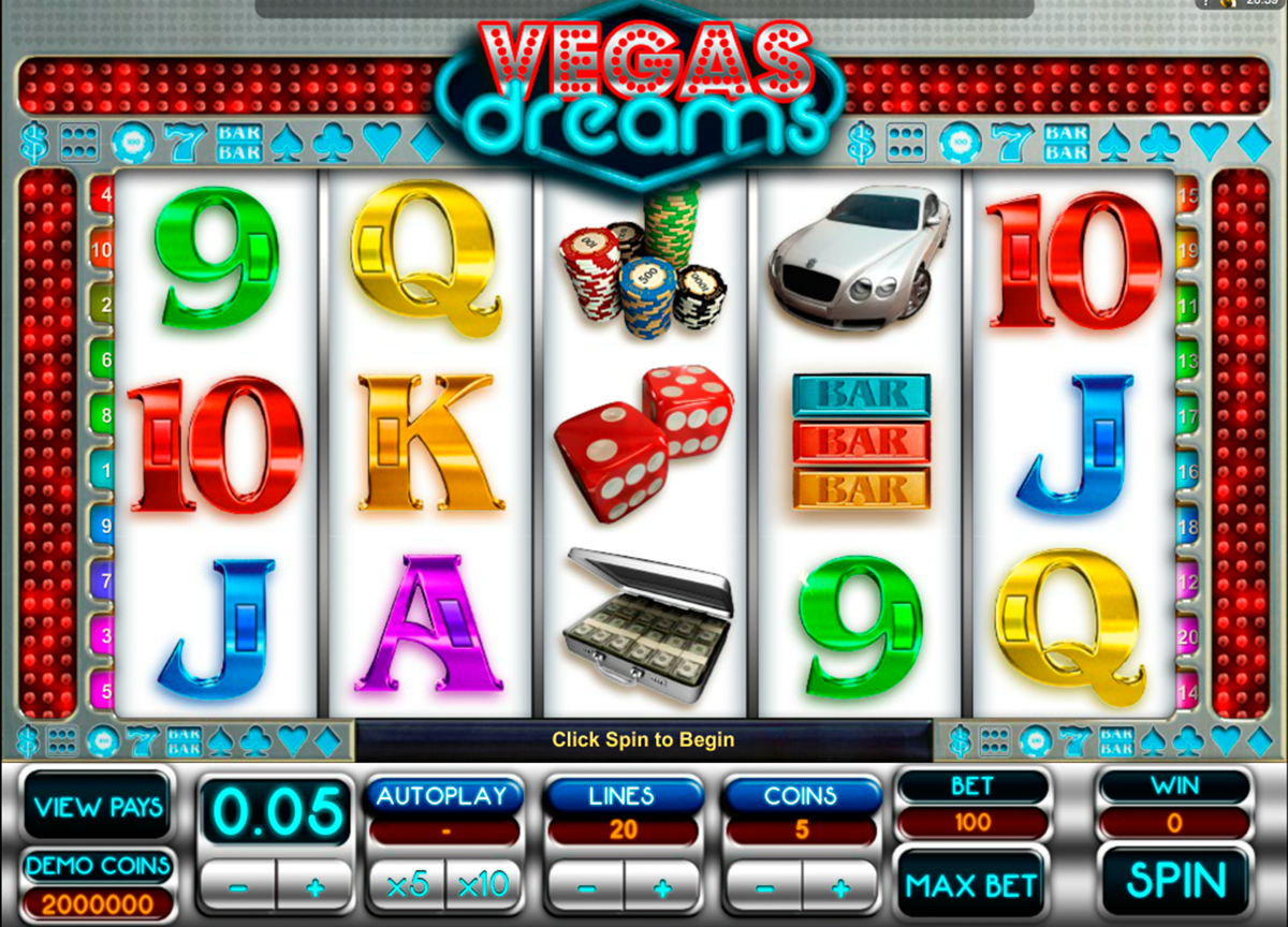 vegas dreams microgaming online slots