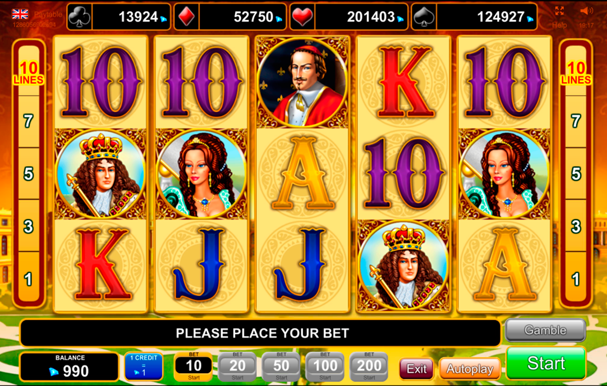 Versailles Gold™ Slot Machine Game to Play Free in Euro Games Technologys Online Casinos