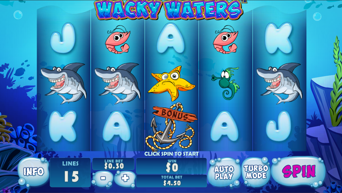 wacky waters playtech online slots