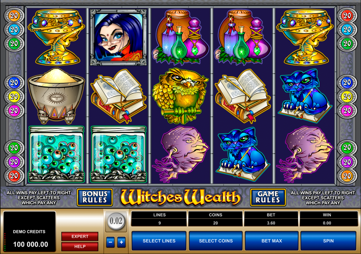 witches wealth microgaming online slots