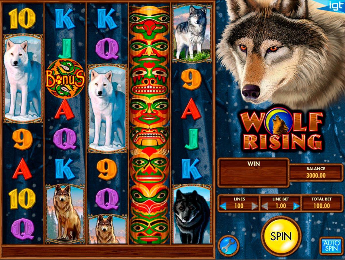 wolf rising igt online slots